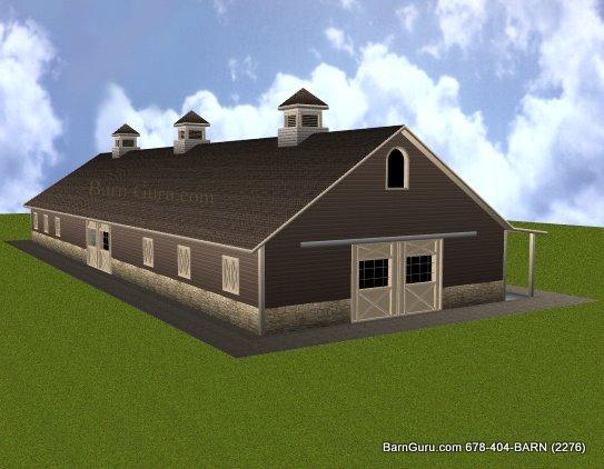 12 Stall Horse Barn Plans
