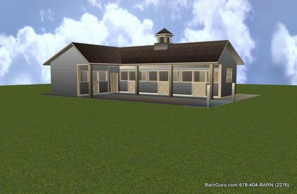 3 stall horse barn plan for 4 stall barn designs