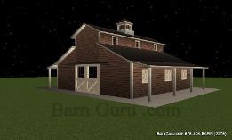 Barn Plans Monitor Style Barn Raised Aisle Design