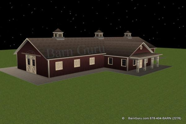 Shedaria here horse barn plans with living quarters for Horse barn with living quarters plans