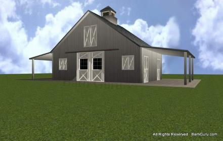 Van Dhon Complete 24 X 36 Pole Barn Plans
