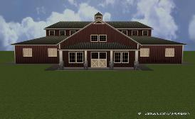 Front Elevation Of A Very Cool Horse Barn