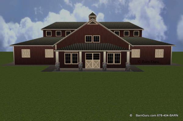 Interior Cool Barn Designs 5 stall horse barn design plans front elevation of a very cool barn