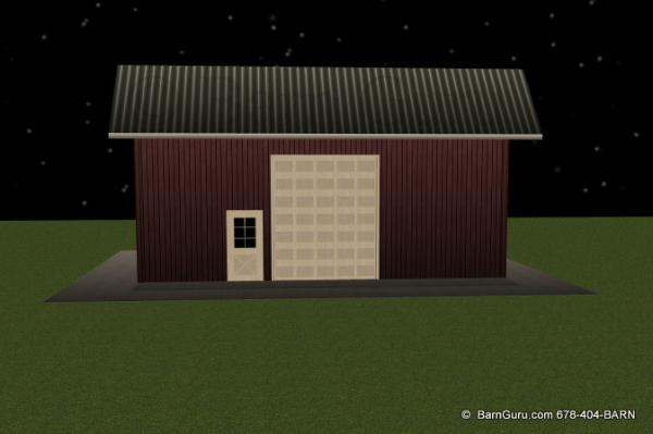 Front Elevation Of Storage Building
