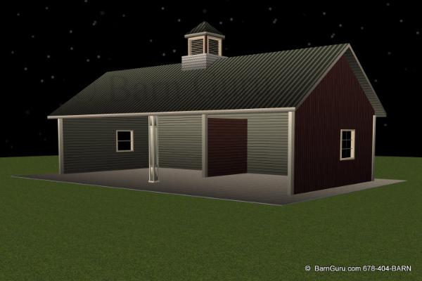 The Ultimate Run -In  24 X 48 Horse Shed
