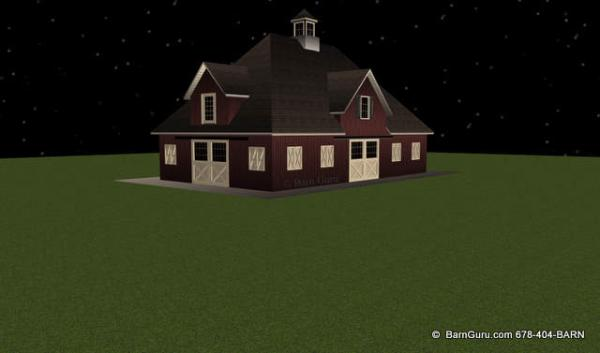 Hip Roof With 4 Gables Horse Barn