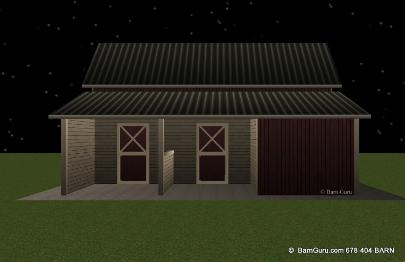 2 stall shed row horse barn whitfield for 2 stall horse barn kits