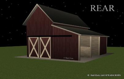 2 Stall Shed Row Horse Barn Whitfield