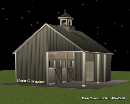 Barn plans 2 stall horse barn design floor plan 2 stall horse barn