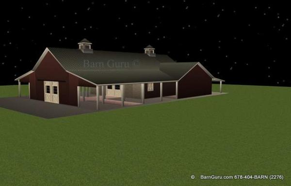 8 stall horse with tractor Shed - Plan - Design