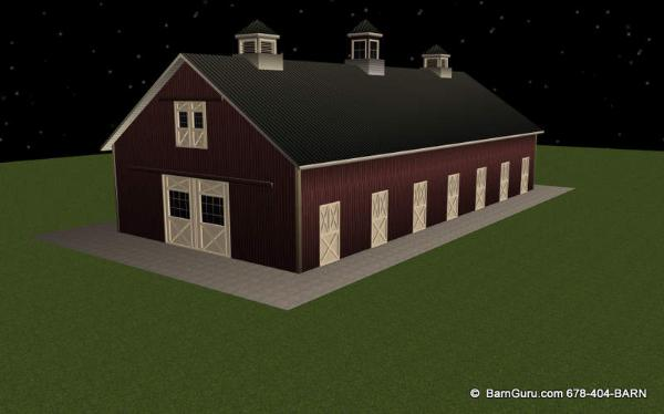 Maximize Your Space With This 11 Stall Horse Barn
