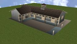 Shed Row Horse Barn Plans - Breeze Way Horse Barns Designs