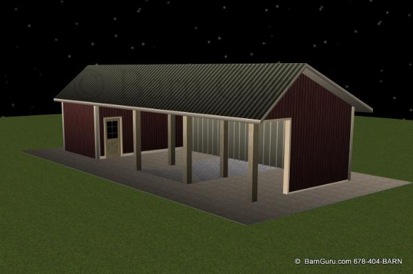 Run In - Horse Sheds - Built In Ga Future Horse Barn
