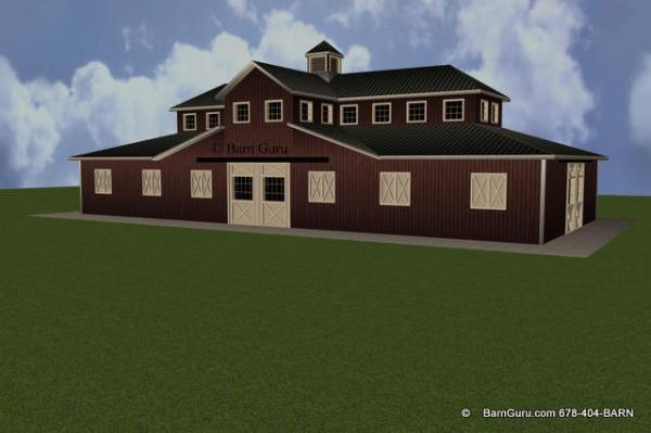 South Elevation Horse barn