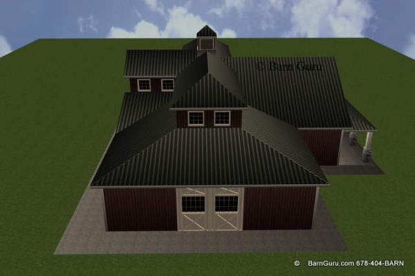 West Elevation Horse Barn