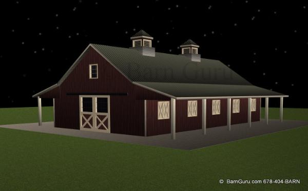 Barn Plans 7 Stall Horse Barn Design Floor Plan
