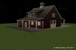 Gable Horse Barn Design