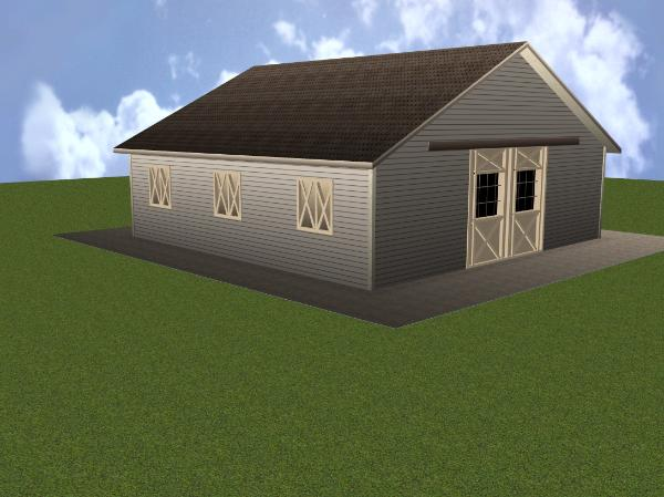 build a barn the liberty 3stall horse barn plans for