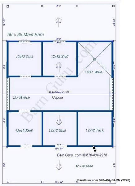 4 Stall Horse Barn Plans The Image Kid