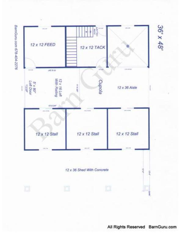 3 stall horse barn plans for Equestrian barn plans
