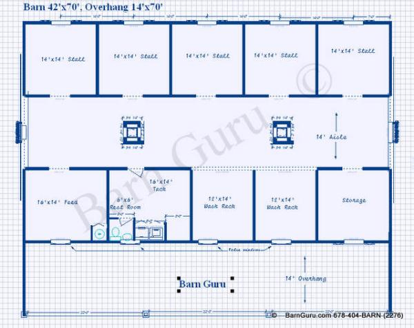Image 6 Stall Horse Barn Plans Download
