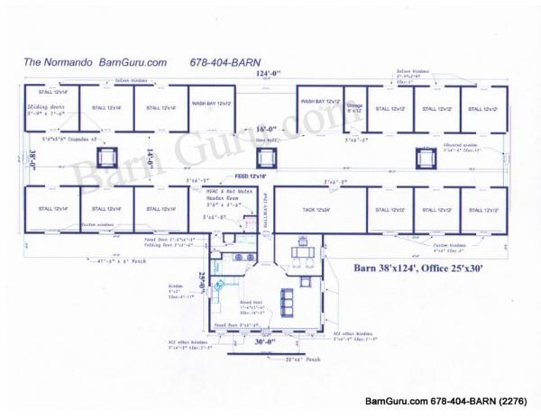 Equine Barn Floor Plans