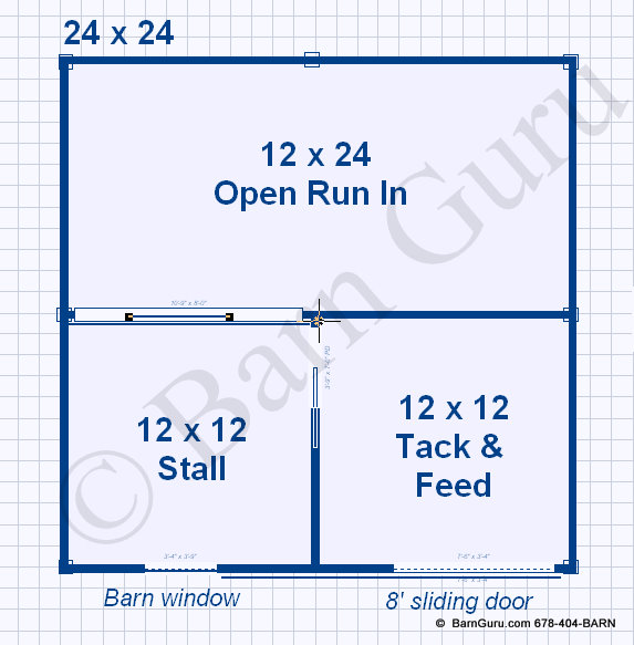 1 stall horse barn plans one stall horse barn design for Horse barn layouts floor plans
