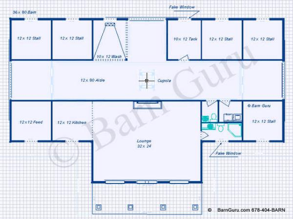 Barns with living quarters plans joy studio design for Horse barn layouts floor plans