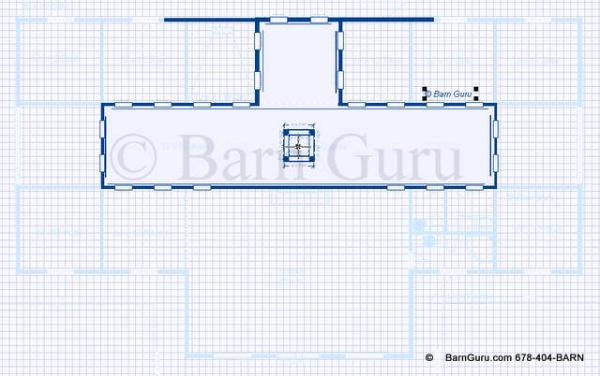 Raised Aisled Open Area In Barn Plan