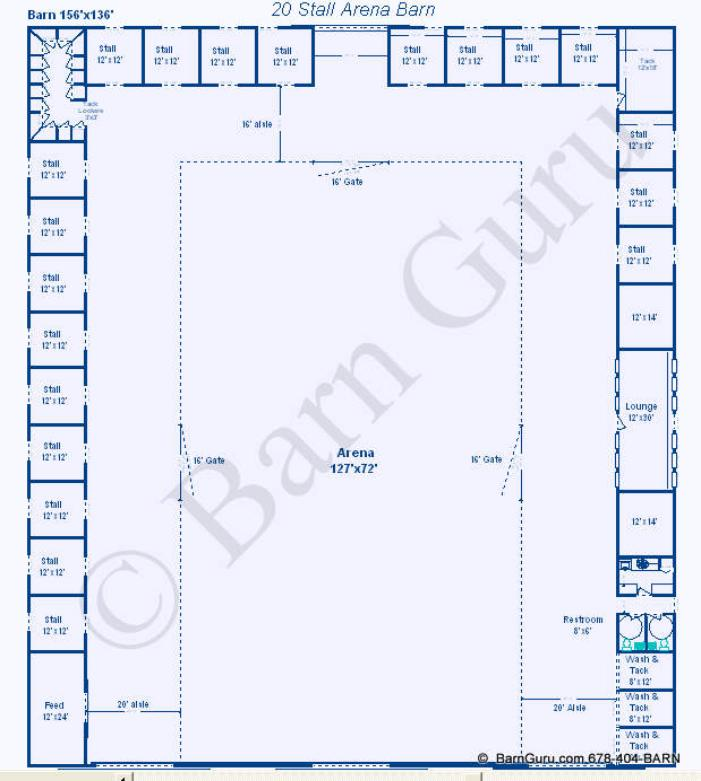 Image gallery horse riding arena plans for Horse barn layouts floor plans