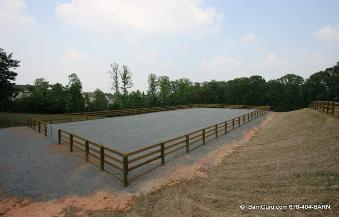 Arena Fence Horse Riding Arenas Ga Proper Slope