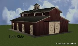 Free plans for monitor style horse barn joy studio for Monitor style barn plans