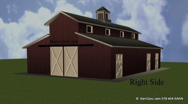 Monitor style barn with living corters joy studio design for Monitor style barn plans