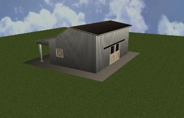 CAD Drawing Of A Horse Barn Remodel
