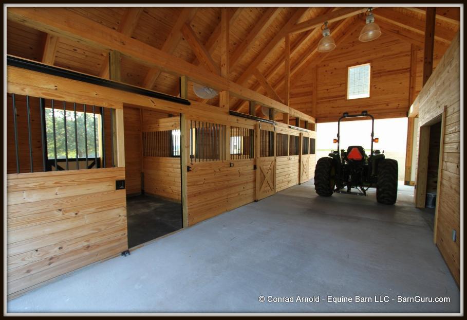 3 Stall Horse Barn Interior Photos