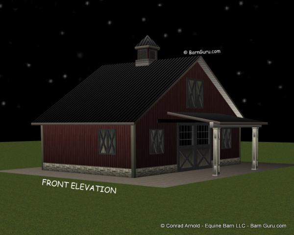 2 two stall barn plans design floor plan for Two stall barn plans