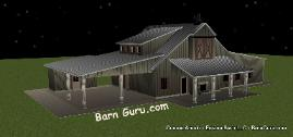 3 Bedroom Barn Style Home - Barn Guru.com