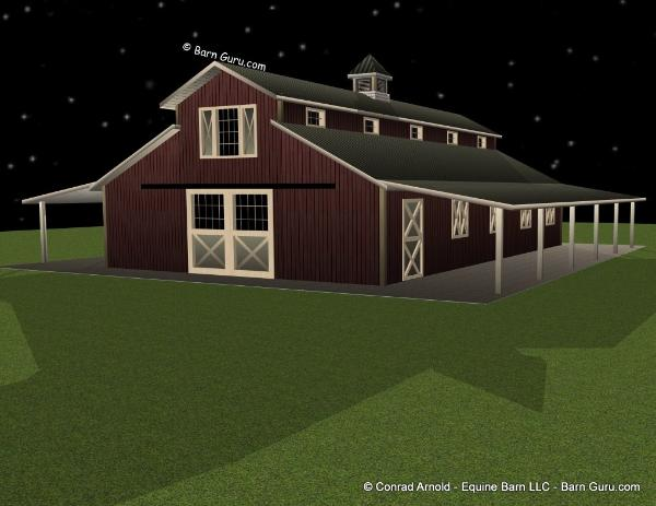 Pin plan of barn on pinterest for 10 stall horse barn floor plans
