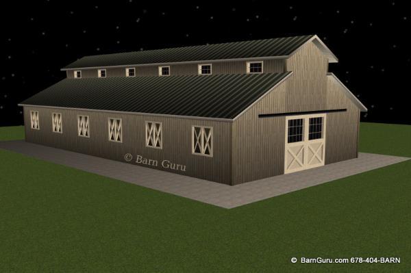 10 Stall Horse Barn Design Plans