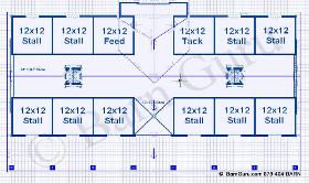 9 10 Or 11 Stall Horse Barn Plans Some Of The Best Horse