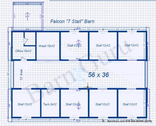 Free Home Plans Horse Barn Floorplans