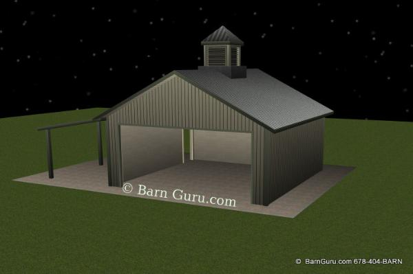 Tractor Shed - Ga Horse Barn Builder - Farm Buildings