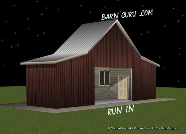 Horse Run = In Shed That Looks Like A gable Barn From The Front - Conrad Arnold �
