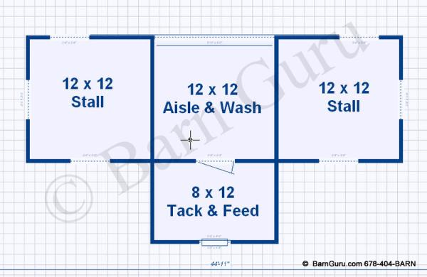 Building a barn the horse forum for 2 stall barn plans