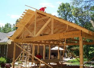 Pavillion options for T g roof decking