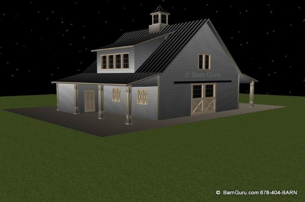 4 Stall Barn With Live In Quarters Joy Studio Design