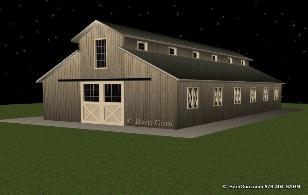 10 Stall Horse Barn Design Plan - Ga Horse barn Builder - Buy Plans