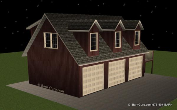 3 car garage with living quarters design floor plan for Garage designs with living quarters
