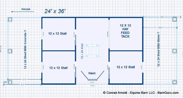 6 stall horse barn floor plans