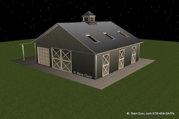 3 Stall Horse Barn _ Ga Barn Builder  - Buy Plans on line